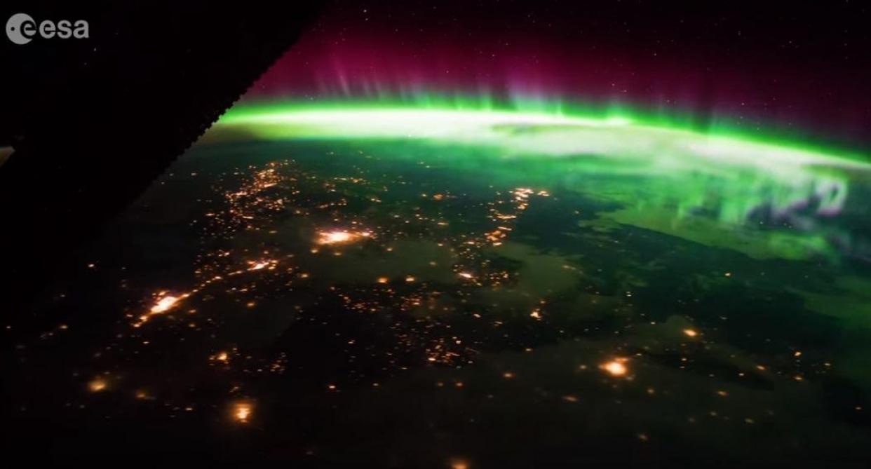 Une impressionnante aurore boréale vue depuis l'espace (vidéo)