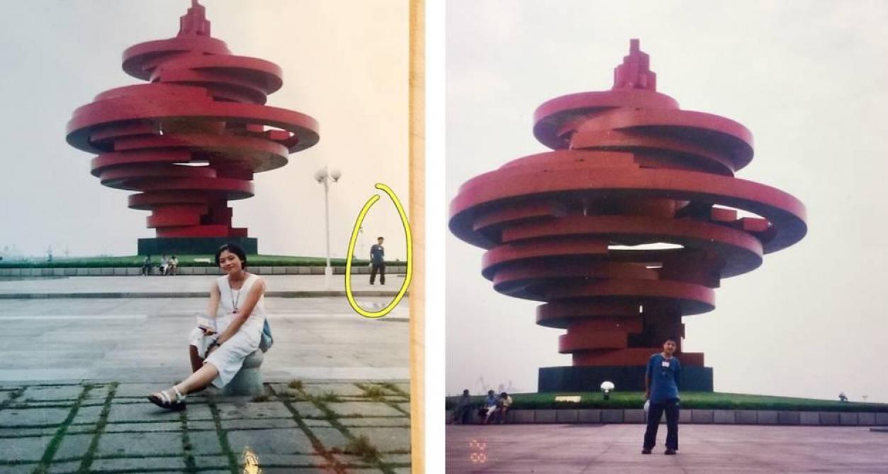 Ces mariés apparaissent sur la même photo 11 ans avant leur rencontre