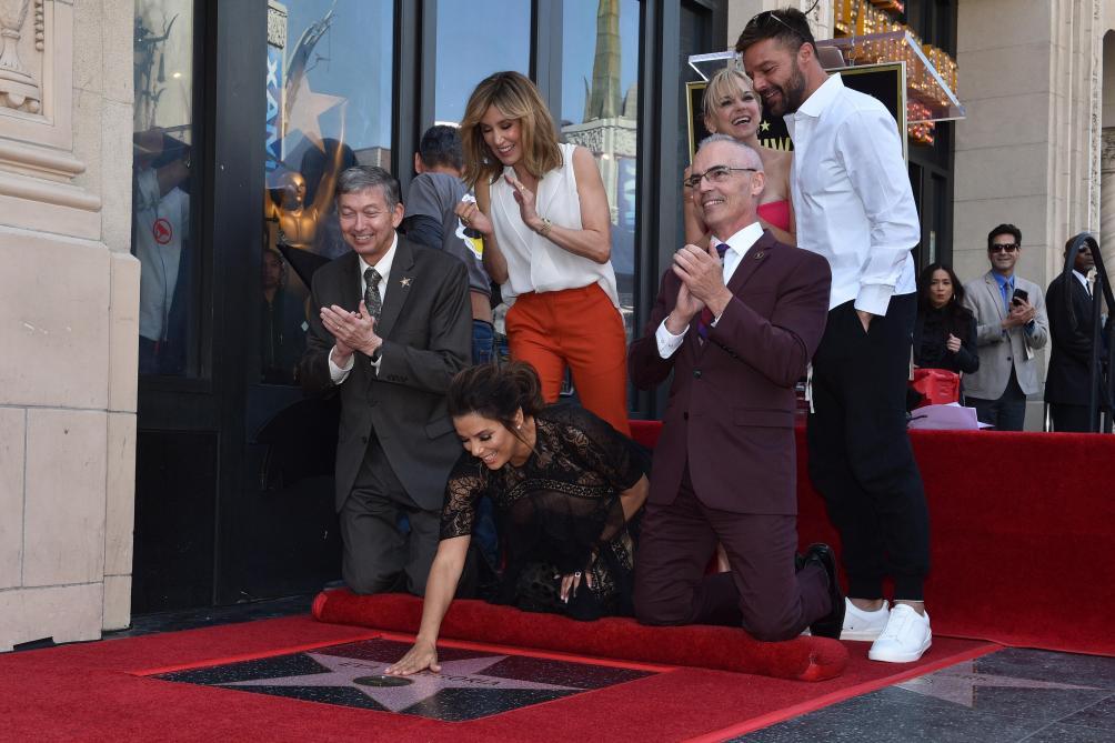 Pour l'occasion Eva Longoria était bien entourée: Anna Faris Felicity Huffman et Ricky Martin