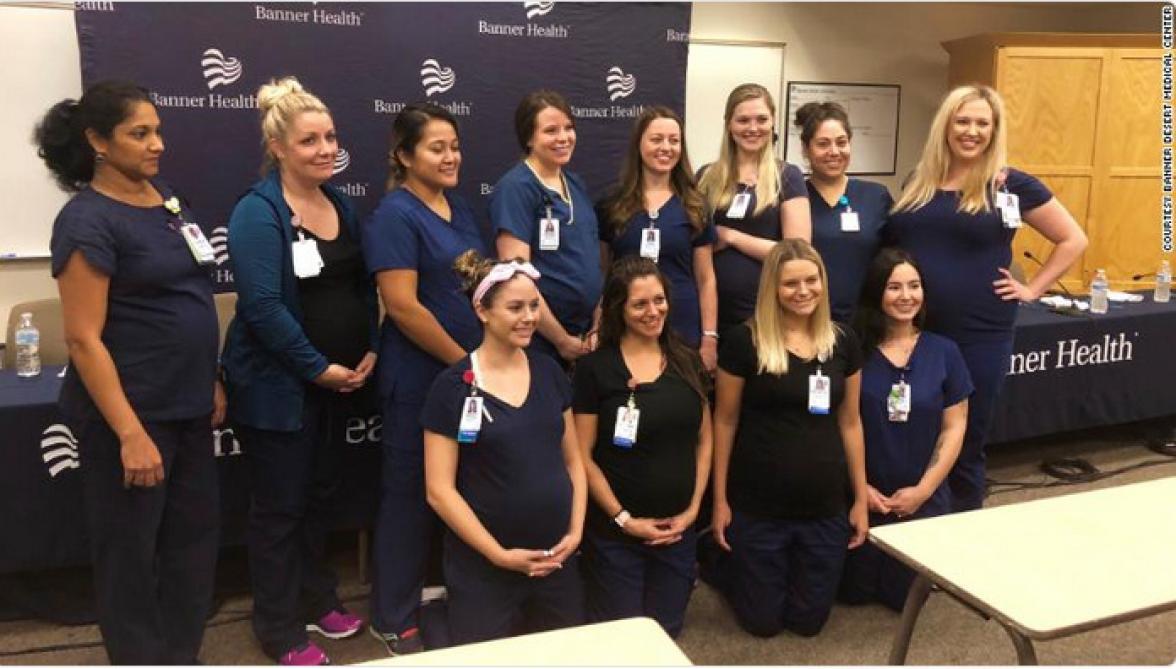 Etats-Unis : seize infirmières d'un même hôpital enceintes en même temps
