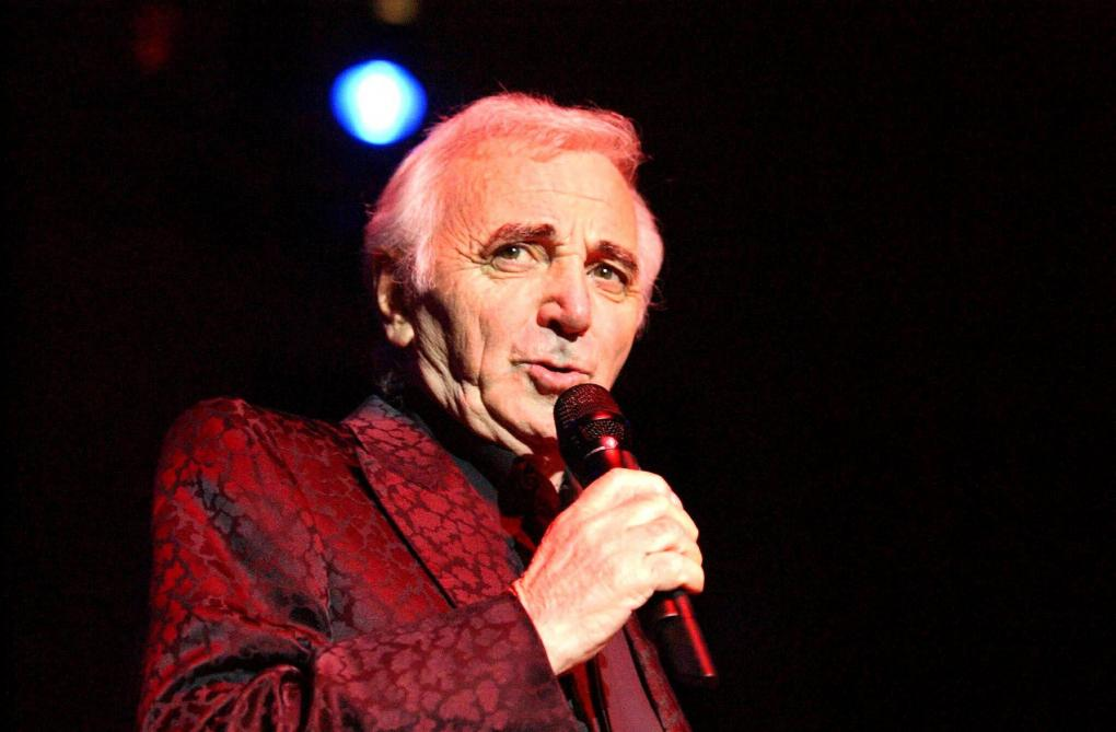 Image result for Charles Aznavour on stage