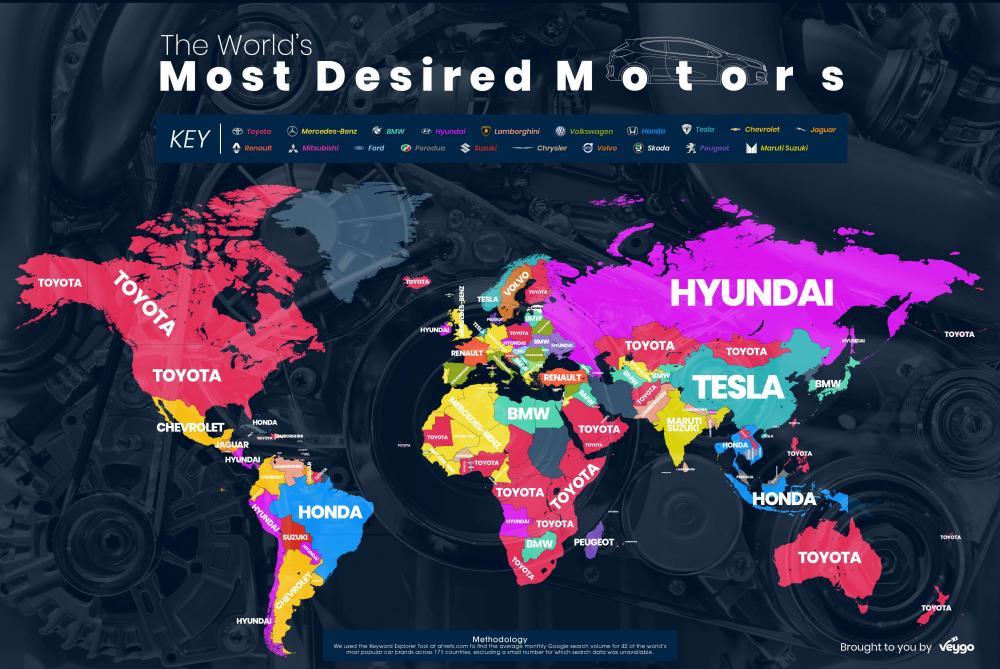 Marque De Voiture >> La Marque De Voitures La Plus Populaire Du Monde Est Toyota