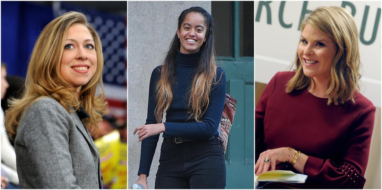 Malia Obama, 20 ans, fait la Une des tabloïds pour avoir bu du vin: Chelsea Clinton et Jenna Bush la défendent (photos)