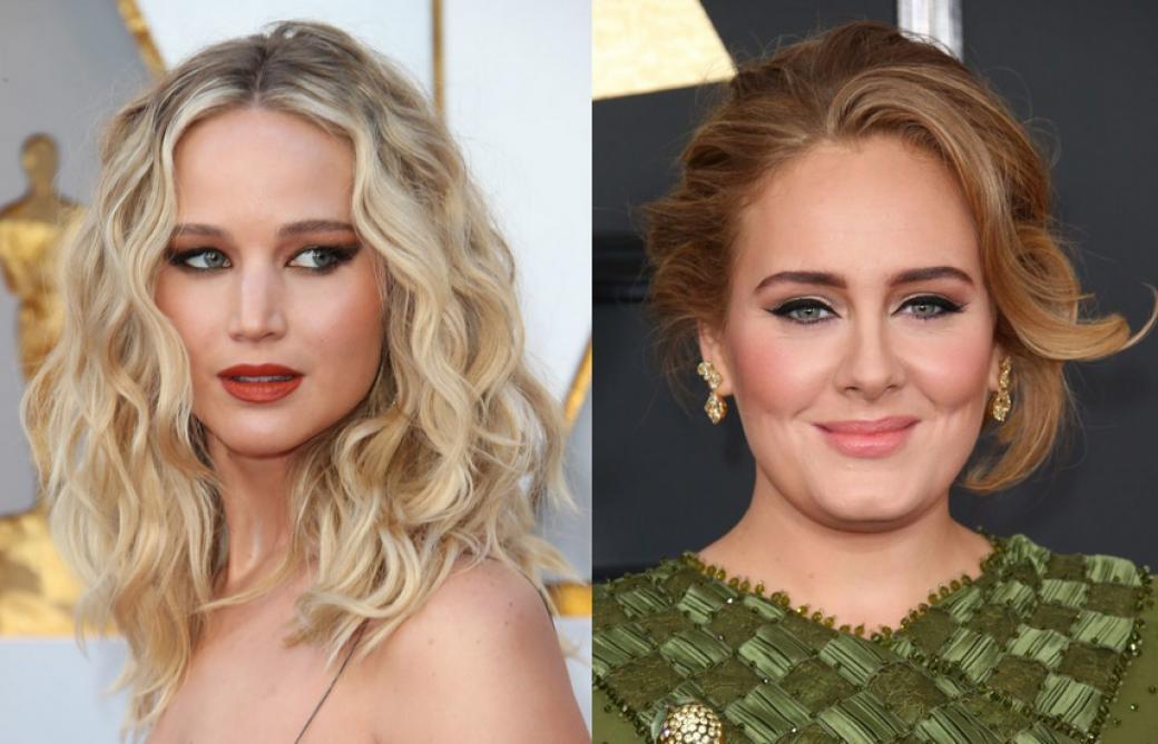 Jennifer Lawrence et Adele finissent un concours de shots à terre