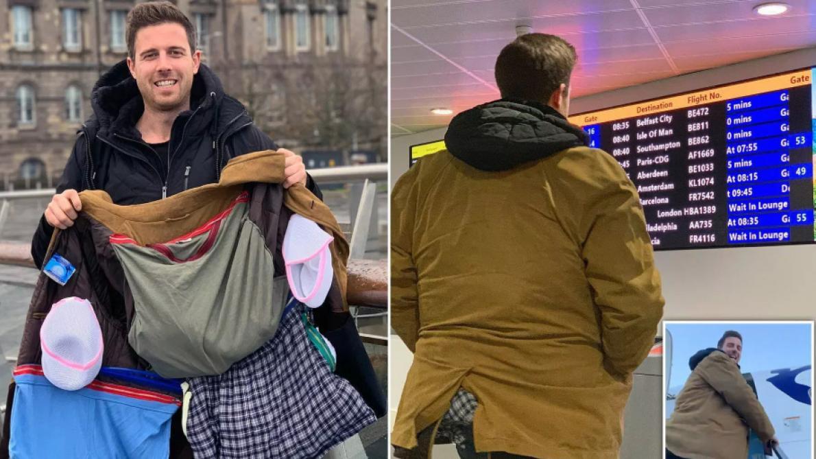Un homme a inventé un manteau-bagage pour ne pas être taxé par Ryanair