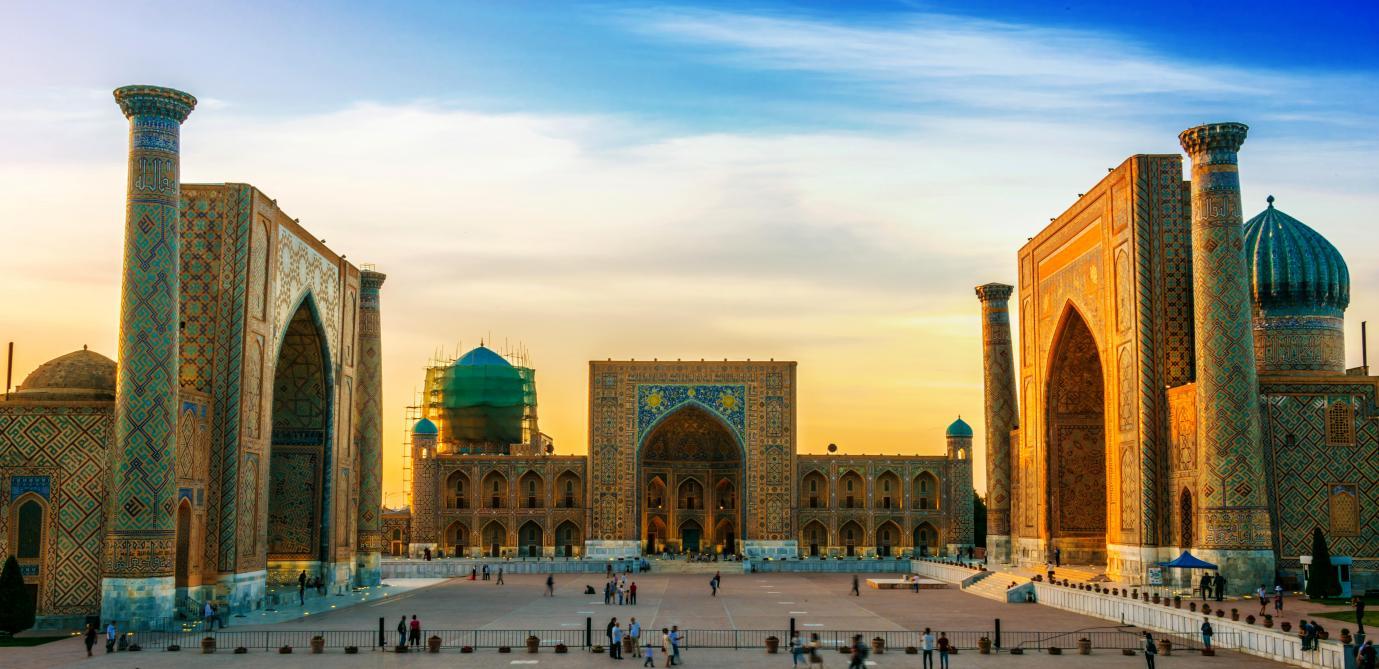 La route de la soie à Samarkand (Ouzbékistan)