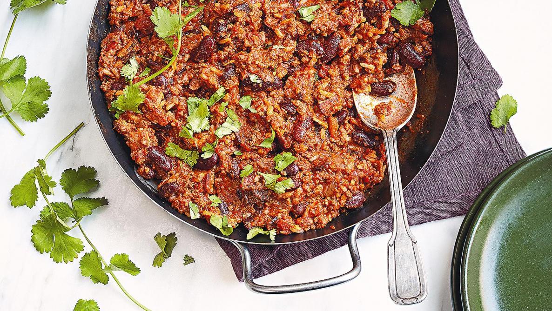 La recette à tester: chili con carne con bacon