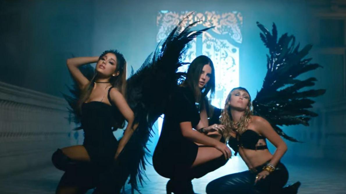 Ariana Grande, Miley Cyrus et Lana Del Rey s'associent dans «Don't Call Me Angel» et ça rend leurs fans complètement dingues (vidéo)
