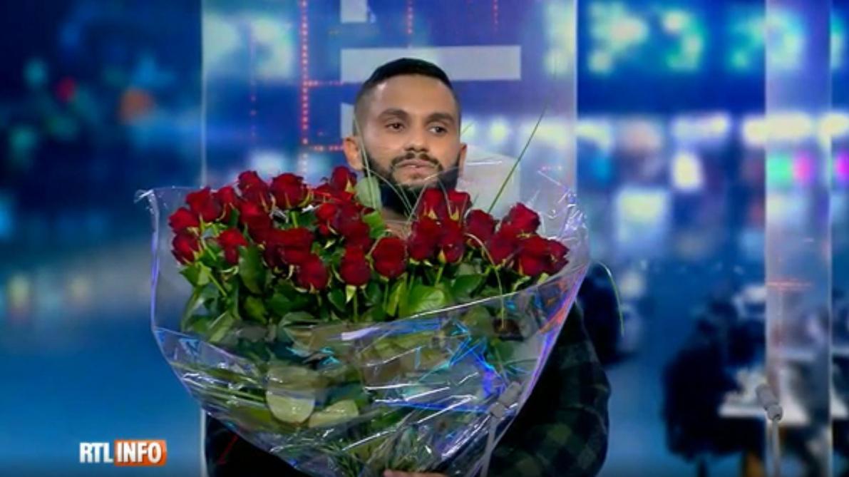 En direct sur le plateau de RTL-TVI, l'humoriste Malik Bentalha demande Angèle en mariage (vidéo)