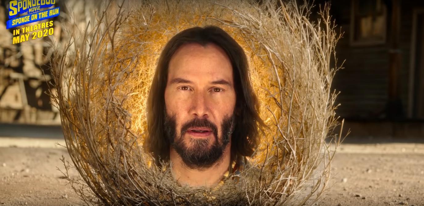 L'apparition très remarquée de Keanu Reeves dans Bob l'Éponge (vidéo)