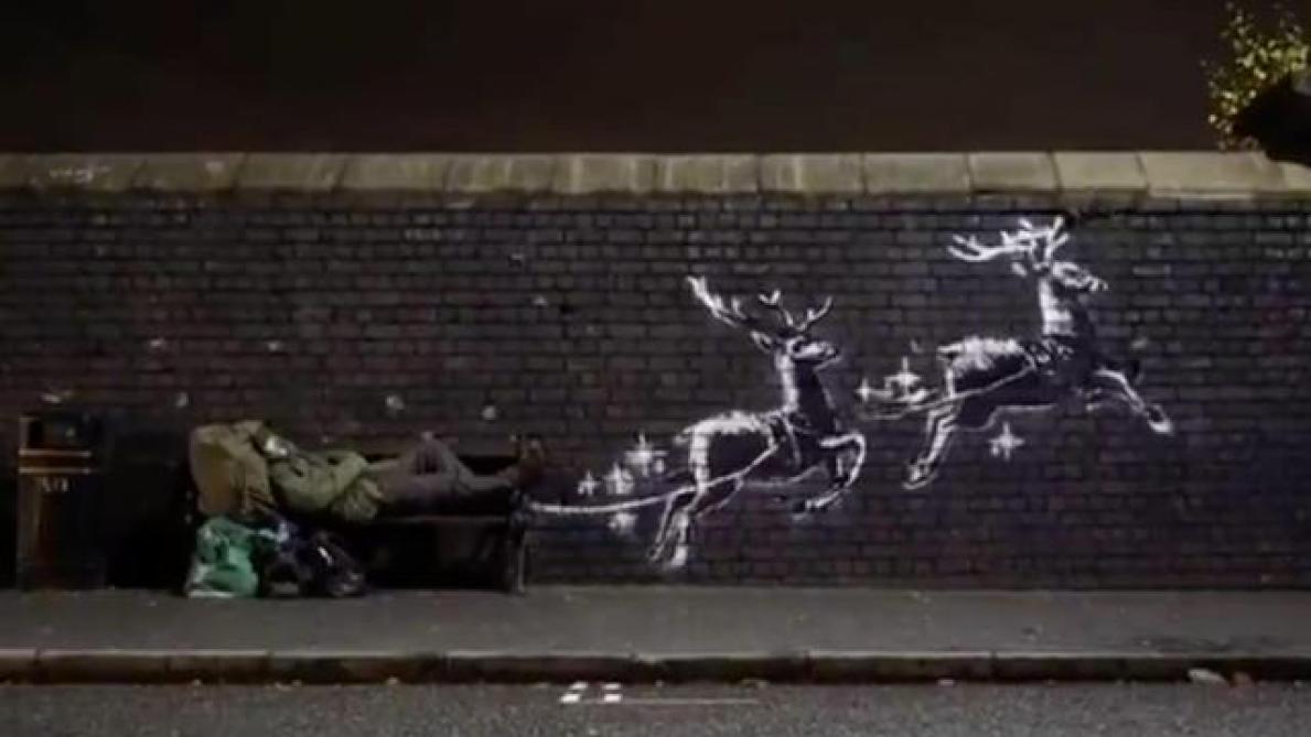 Banksy dévoile une œuvre dramatiquement de saison