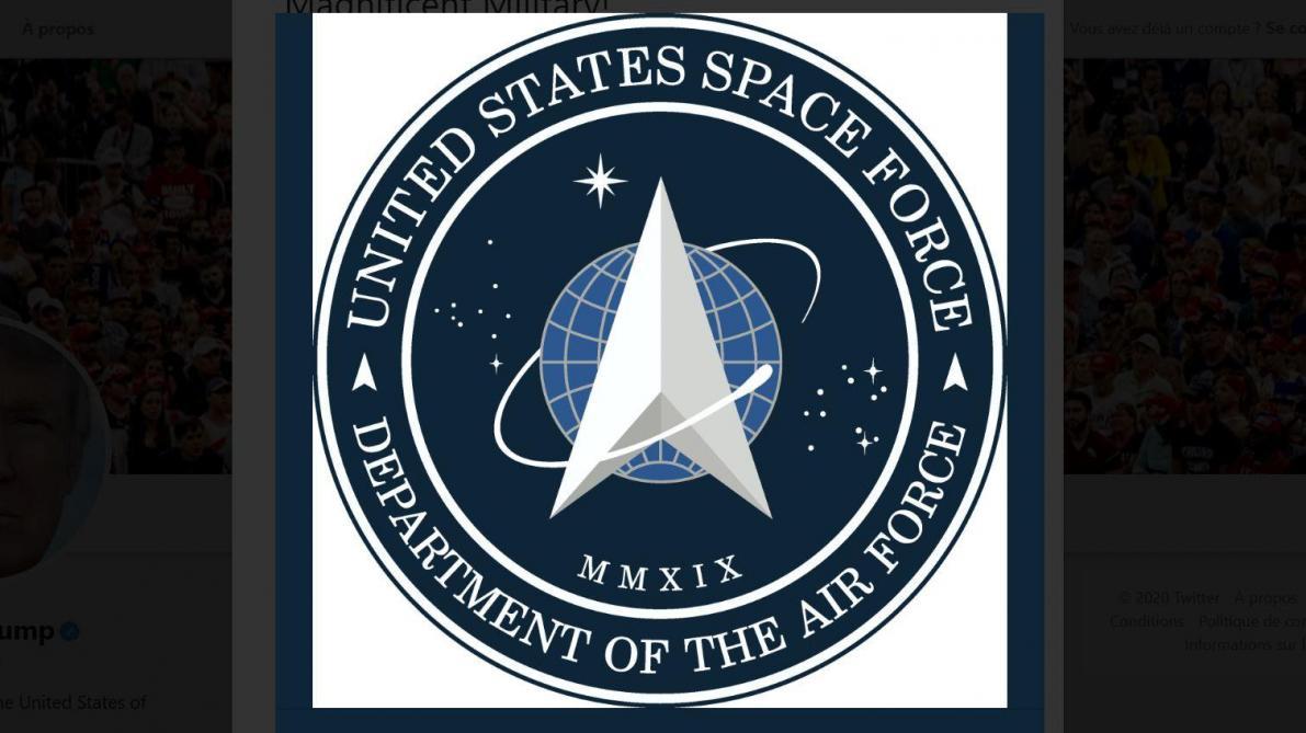 Quand le nouveau logo de la Force de l'espace américaine présenté par Donald Trump rappelle étrangement «Star