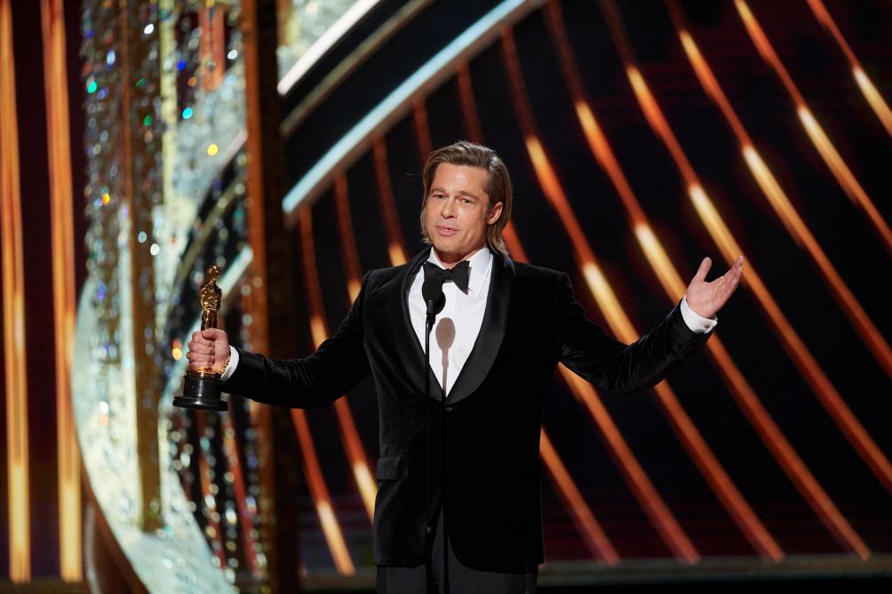 Brad Pitt ému aux Oscar, il dédie son prix à ses enfants