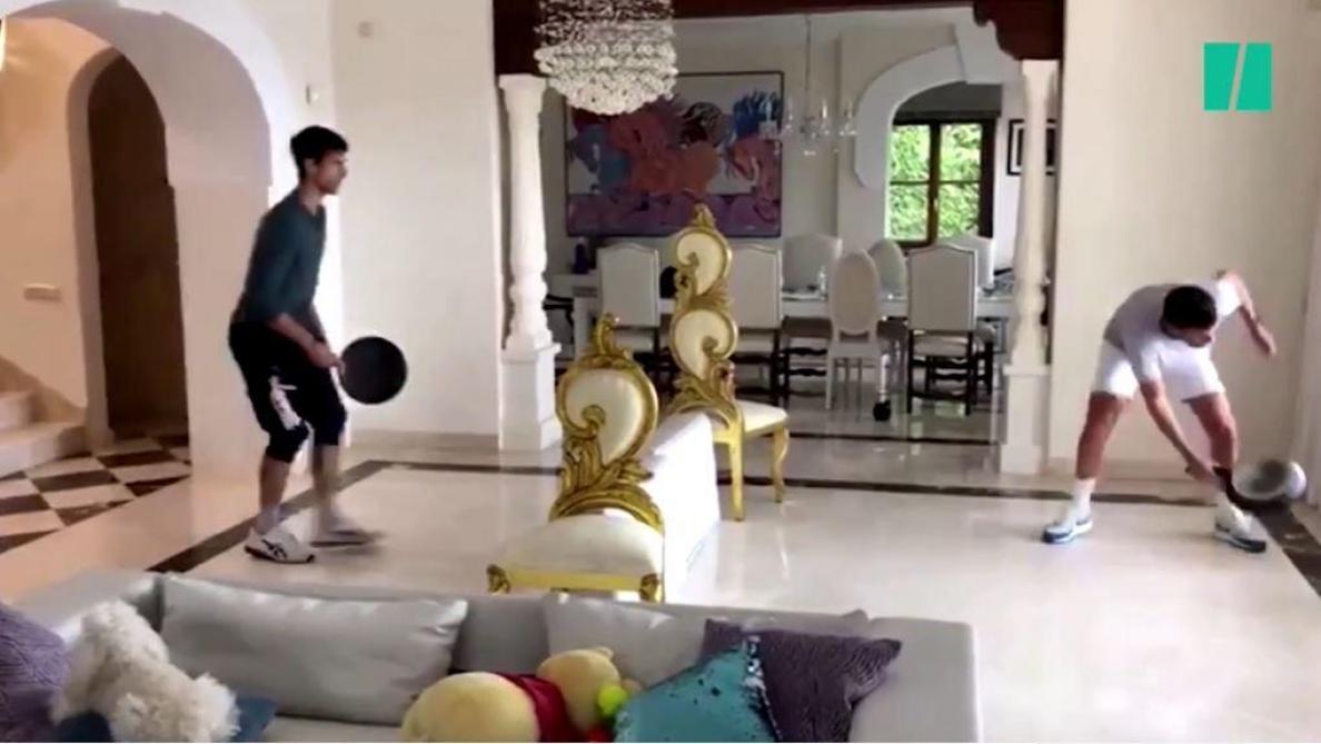 Djokovic, Messi, Riner…: quand les sportifs trompent l'ennui du confinement avec des exercices loufoques (vidéo)