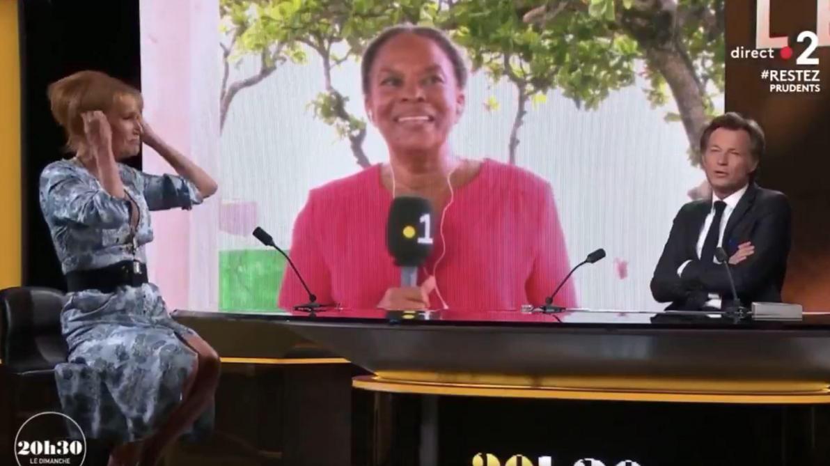 Quand Christiane Taubira danse en direct dans le JT de France 2 sans savoir qu'elle est filmée (vidéo)