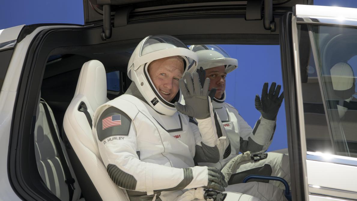 Lancement d'astronautes par SpaceX: une météo incertaine pour un mercredi historique