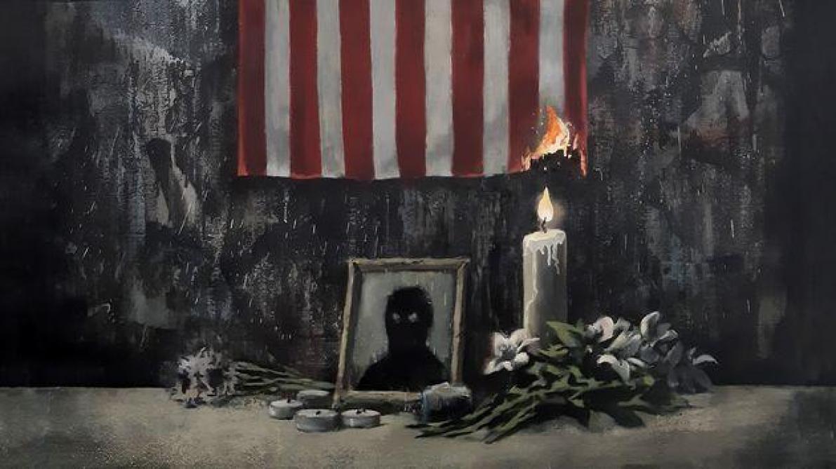 Son œuvre en hommage à George Floyd — Banksy