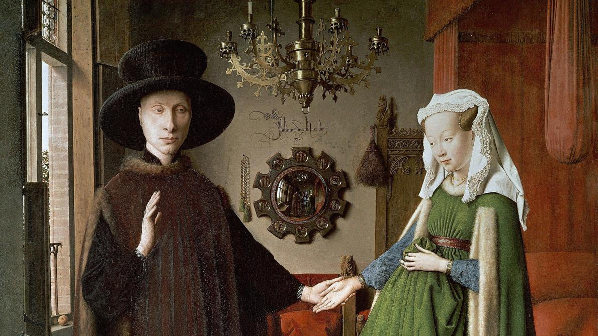 Jan Van Eyck -  Les Époux Arnolfini  - 1434,  National Gallery  Londres.