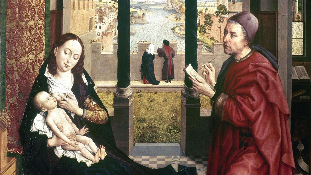Petite Histoire D Un Grand Tableau Belge Saint Luc Dessinant La Vierge Soirmag