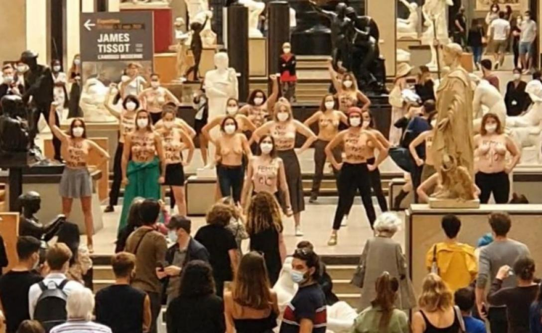Refus d'accès à cause d'un décolleté : des Femen manifestent au musée d'Orsay