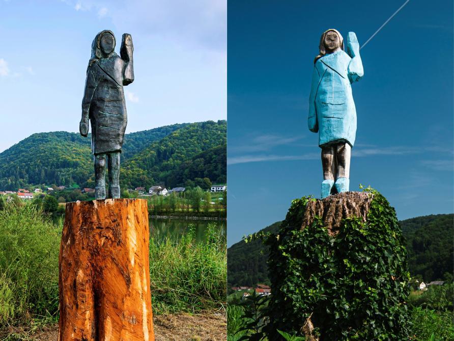 Une nouvelle statue de Melania Trump a été inaugurée en Slovénie (photos)