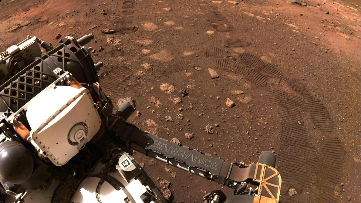 Le rover Perseverance a parcouru ses premiers mètres sur Mars (photos) - Le Soir