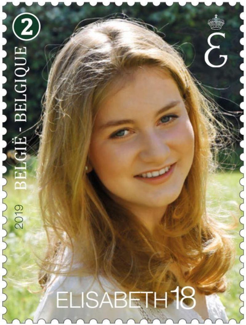 Pour ses 18 ans, la princesse Elisabeth sur un timbre-poste officiel: on doit la photo au roi Philippe (photos)