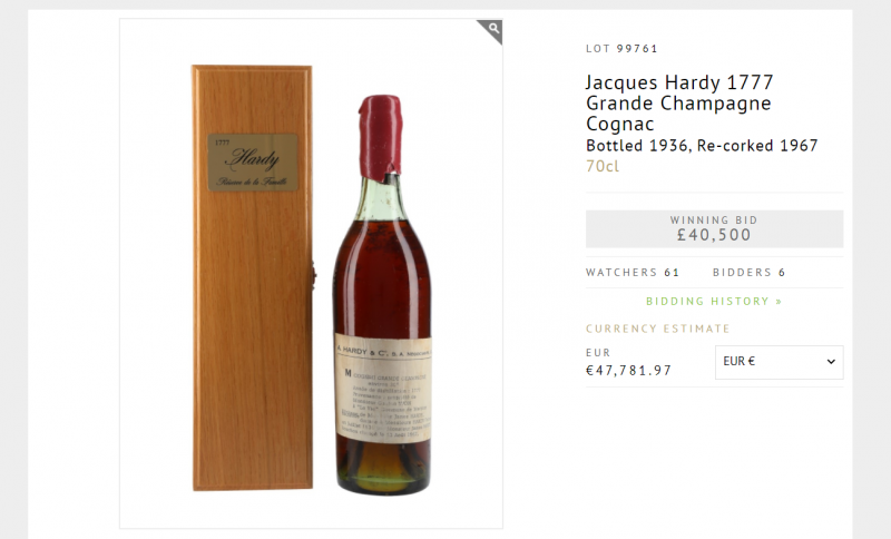 Capture d'écran Whisky.Auction