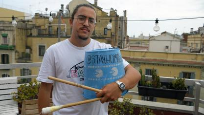 Guillem, le percutionniste du groupe.